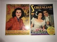 Vintage Halloween Decorations and Movie Magazines