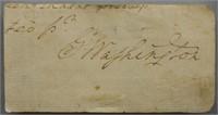 President George Washington Cut Autograph w/ COA