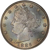 5C 1886 PCGS MS67