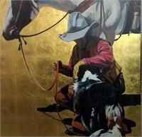 David DeVary, Oil on Gold Leaf