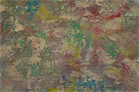 1963 Beauford Delaney Abstract Expressionist O/C
