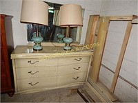 dresser/matching full size bed frame