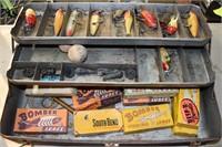Old Tackle Box Full Fishing Plugs