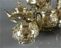 Impressive London Sterling Silver Tea & Coffee Set