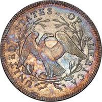 $1 1795 B-3, BB-11. SILVER PLUG. PCGS AU55 CAC