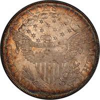 $1 1798 LARGE EAGLE. PCGS AU58+ CAC