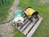 (2) HOSE REELS (GREEN AND YELLOW)