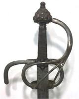Swept-Hilt Iron & Steel Rapier