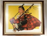 Oil on board artist proof by listed famous Canadian artist Rex Norman WOODS (1903-1987), Macdonald Lassie, 28 x 33.5 inches, $3,000-$5,000