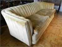 Art Deco sofa with down filled cushions