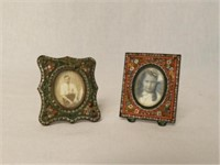 Two miniature mosaique photos frames, photos not included