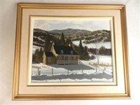 Oil on canvas by listed Canadian artist William J. SAUNDERS (born Montreal 1948), 20 x 16 inches, estimate $250-$350