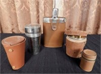 Collection of silver plated stacking travel cups