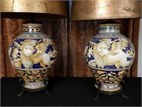 Pair of antique lamps, circa 1930