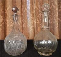 Pair of antique decanters