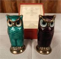 DAVID ANDERSEN pepper and salt owls, original box from Norway
