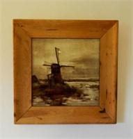 Framed Delft tile