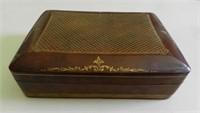 Leather box with Fleur de Lys