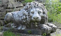 """Large pair of antique marble lions, after Canova, lenght 44"""" X width 16"""" X height 21"""""""