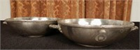 Pair of silver plated bowls marked Canadian National Steamships