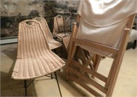 Rotin chairs and other outdoor furniture (basement)