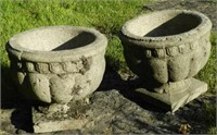 Pair of antique small urns