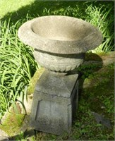 Pair of antique tall urns