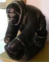 JUSI QUMALUK, Iisted Inuit artist (from Puvirnituq), carving of person working
