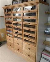 Large multi-drawer wooden cabinet