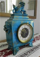French Chinoiserie mantle clock