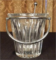 BACCARAT crystal ice bucket and scoop