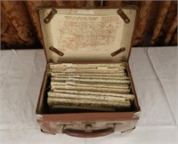 Military maps with case