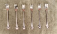 Set of 6 Sterling seafood forks