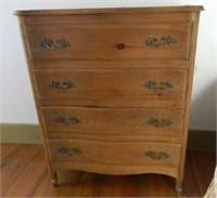 4 drawer serpentine front dresser