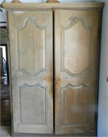 "Pair of Louis XV pine doors, Quebec 18th Century, height 6'2.5"" X width 2'2.5"""