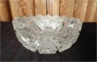 Antique brilliant cut crystal bowl