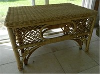 Pair of rotin side tables