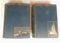 """Fridtjof nansen """"Farthest North"""", 2 volumes, dated London 1897"""