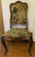 18th Century French Provincial chair with 17th Century tapestry