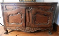 French 18th Century walnut buffet enclosed by a pair of paneled doors