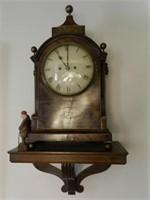 George III mahogany bracket clock