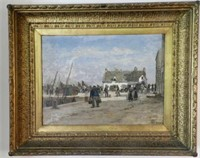 """ÉMILE LOUIS VERNIER,  Returning home, oil on panel, signed, height 18"""" X width 25"""""""