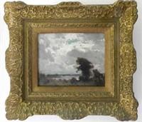 "MARC-AURÈLE DE FOY SUZOR-COTÉ, RCA, oil on panel, signed front bottom right, ""Scene Kingsey Lake Arthabasca October 1913"" written on back, height 6.0 "" X width 8.0 """