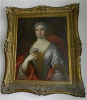 """Portrait of a Lady, oil on canvas, height 28"""" X width 22 1/2"""", unsigned"""