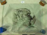 Online- Soap Stone Carvings, Bone, Prints & Tapistries #897