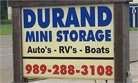 LIVE AUCTION:  Durand Mini Storage - Several Units