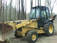 1990 555C 4x4 Backhoe