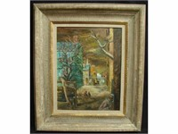 EVENING ESTATE SALE. PAINTINGS, FURNITURE, GLASS.
