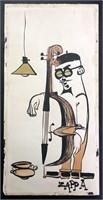 Frank Zappa 1950s Original Artwork of Beatnik