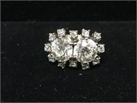Platinum European Cut Diamond Cocktail Ring c.1900